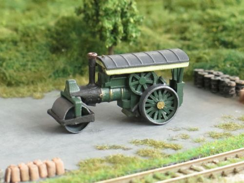 Arch Laser A3D0016 N Gauge Green Steam Roller (Painted)